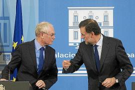 Van Rompuy alaba los planes de ajuste de Rajoy en este mes de mandato