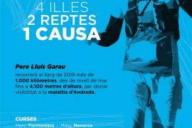 Kilómetros por Baleares para visibilizar la enfermedad de Andrade