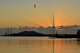 Amanece en el puerto de Ibiza