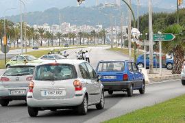 Encontronazo en Palma por el límite de velocidad a 30 kilómetros por hora