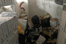 Justicia reclama un camión para retirar la basura que se acumula en los juzgados de Inca