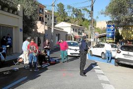 Herida una motorista tras ser arrollada por un coche en una calle de Andratx