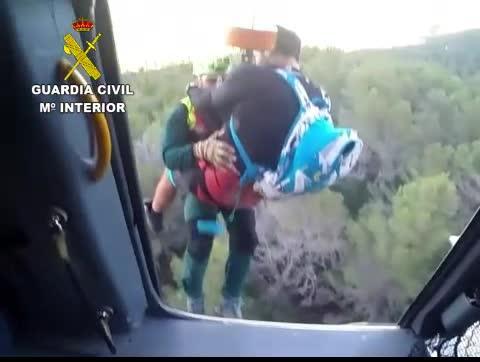 Rescatado en helicóptero un ciclista accidentado en el Puig de Galatzó