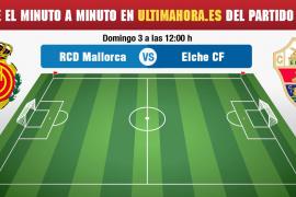 Real Mallorca-Elche, minuto a minuto