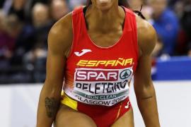 Ana Peleteiro, campeona de Europa de triple salto