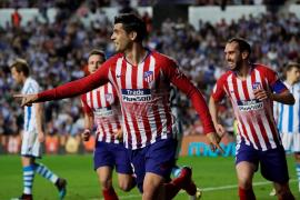 Morata mantiene al Atlético en la carrera por la Liga