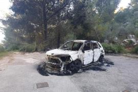 Localizan calcinado en Valldemossa el coche robado a un vecino de Palmanyola