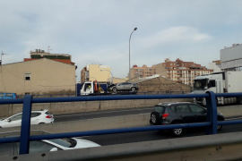 Monumental atasco en los accesos a Palma por un accidente