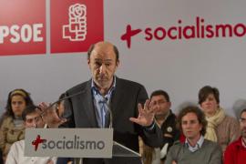 La candidatura de Rubalcaba afirma que tiene 13 de 14 delegados de Baleares