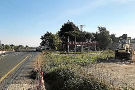 Las obras de enlace de Lloseta con la autopista incluyen una vía peatonal hasta Binissalem