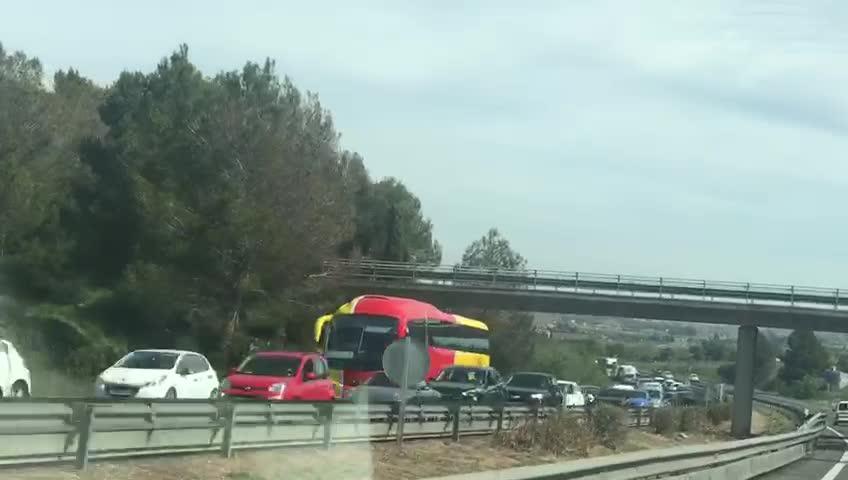 Retenciones de tráfico en la autopista de Inca