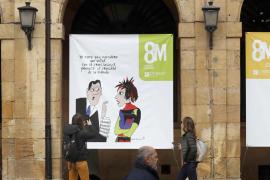 Malestar judicial por una controvertida pancarta institucional del 8M