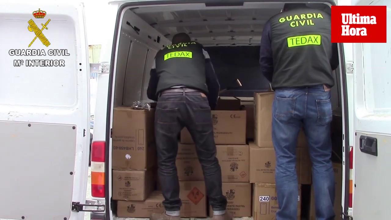 100.000 artículos pirotécnicos intervenidos en la operación en comercios chinos de Mallorca