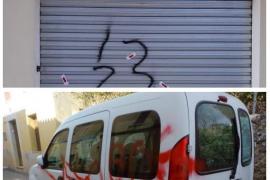 Pintadas contra Ciudadanos y Vox