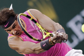 Rafa Nadal se exhibe en su debut en Indian Wells