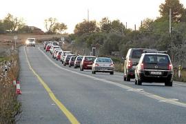 Malestar por las retenciones en la vía Campos-Llucmajor