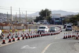 Los trabajos de la carretera de Santa Eulària, en imágenes (Fotos: Daniel Espinosa).