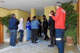 Los vecinos desalojados por el incendio en Andratx: «Pasamos mucho miedo»
