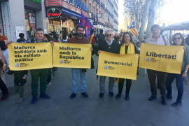 Mallorquines en la manifestación independentista de Madrid.