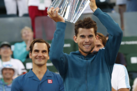 Thiem remonta a Federer y logra su mayor título en Indian Wells