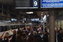 Los trenes circulan con horario de fin de semana tras el incendio en la Intermodal de Palma