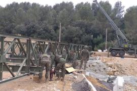 El Ejército retira el puente provisional instalado en Artà tras la torrentada