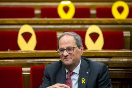 El Síndic recomienda a Torra que retire los lazos amarillos