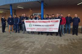 Funcionarios de la cárcel de Palma se solidarizan con un compañero agredido en Madrid