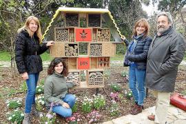 El Jardí Botànic de Sóller instala un 'hotel de insectos' para favorecer su diversidad