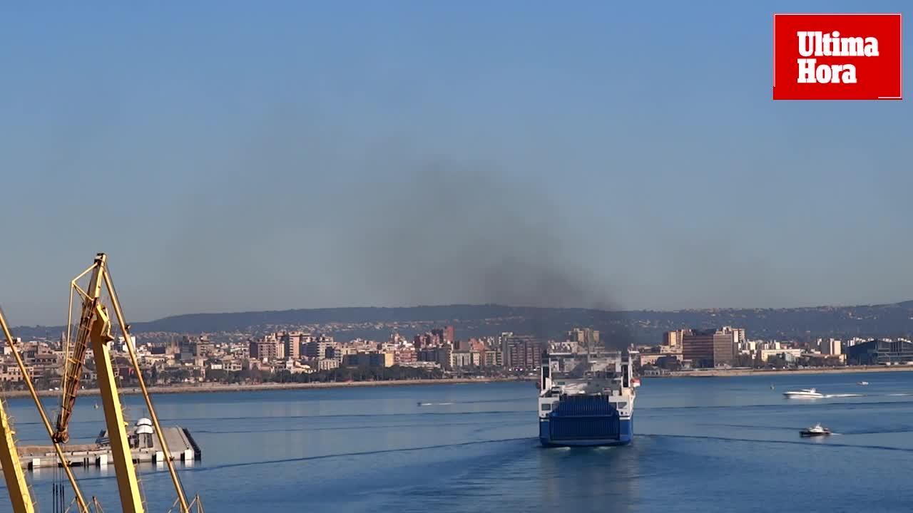 Una medida para reducir a la mitad la contaminación de los cruceros en Baleares