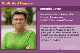 Antònia Jover, una activista que quiere llegar al Congreso con Unidas Podemos