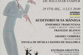 Concierto de danzas mallorquinas con Ensemble Tramuntana en el Auditòrium Sa Màniga