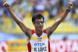 El marchador Miguel Ángel López, plata en el Mundial de Moscú