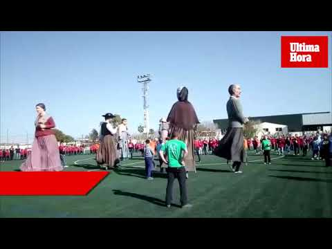 Gegants y fútbol, unidos para recordar a Bravo y Sureda