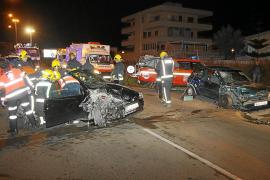 Siete heridos en un choque frontal entre dos vehículos en la Platja de Palma