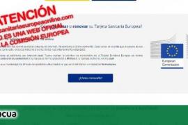 Alertan de una web con el logo de la Comisión Europea que cobra 59 euros por renovar la tarjeta sanitaria