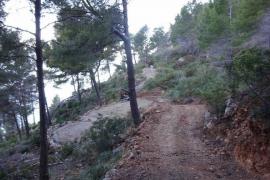 Paralizan las obras de un pozo y un camino en una zona ANEI de Andratx