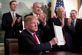 Trump reconoce la soberanía de Israel sobre los Altos del Golán