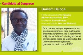 Guillem Balboa es el candidato de Veus Progressistes al Congreso de los Diputados.