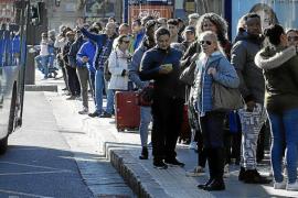 El primer día de huelga en la EMT deja miles de afectados en Palma