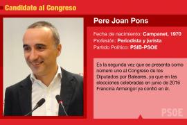 El PSIB-PSOE es el único partido que repite candidato en las generales
