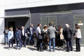 La concentración de los letrados del turno de oficio en Ibiza, en imágenes (Fotos: Daniel Espinosa).