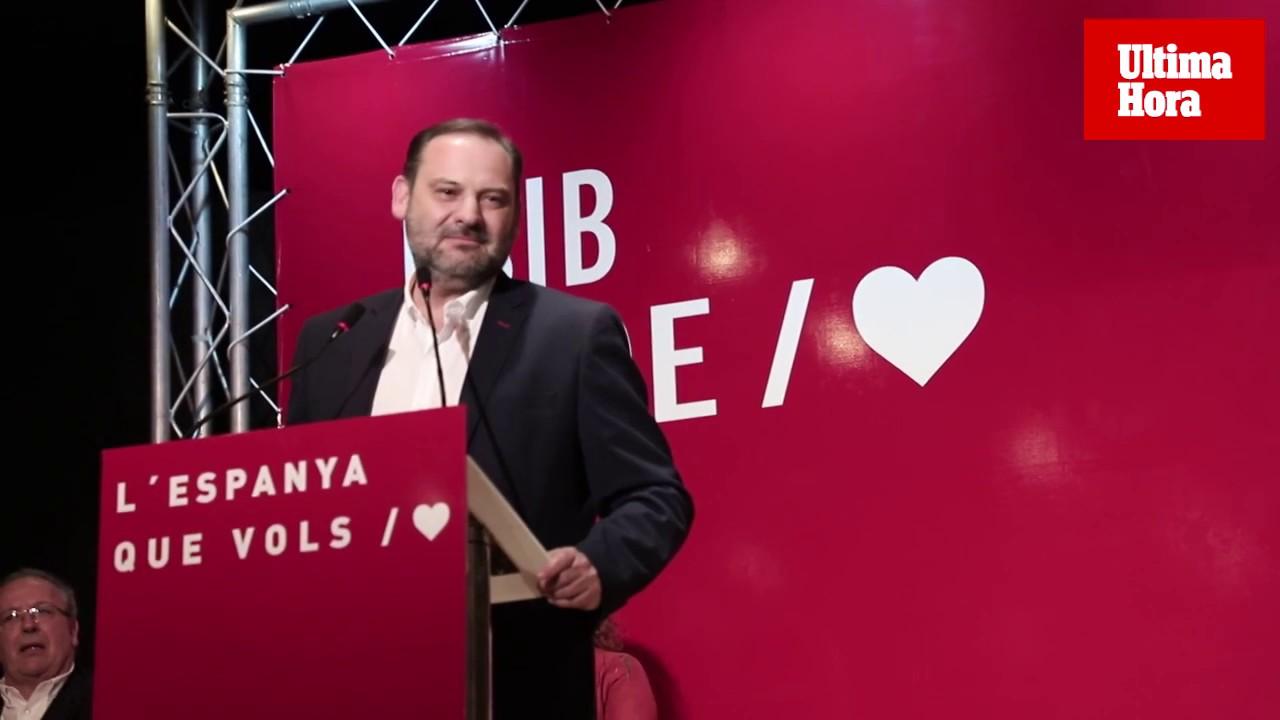 Ábalos defiende en Palma «la empatía» del PSOE frente a «la frustración y negatividad» de la derecha