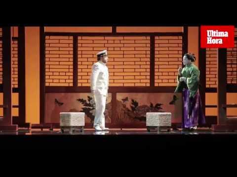 Puesta a punto en el Teatre Principal para el estreno de 'Madama Butterfly'