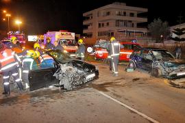 El choque frontal entre dos coches en la Platja de Palma fue provocado por uno de los copilotos