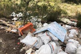 Localizan a los autores de seis vertidos ilegales en Calvià