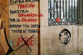 El Frente Obrero, tras las pintadas en las sedes de los partidos