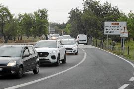 Embotellamientos en la carretera de s'Esgleieta