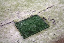Mal estado de los campos de fútbol en Palma