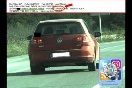 Sorprendido un conductor en Ibiza a 104 km/h en un tramo donde se puede ir a 50